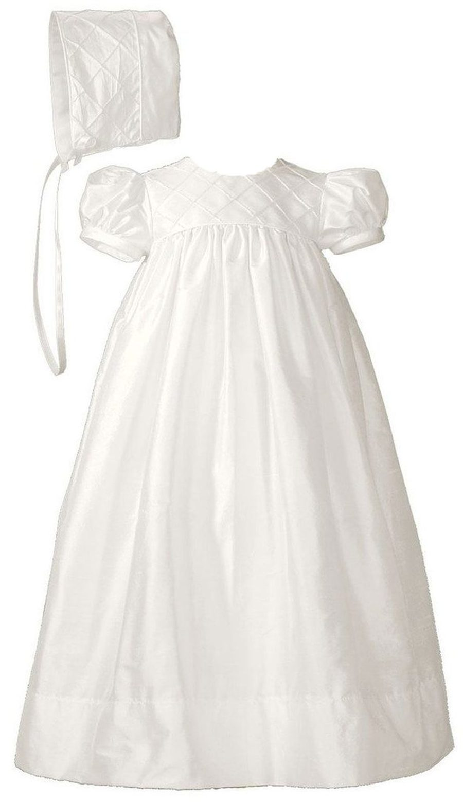 Silk Dupioni Christening Gown